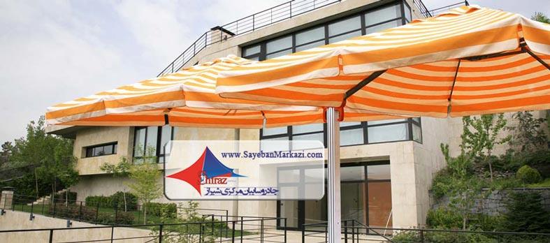 ساخت و نصب سایبان و چادر چتری در شیراز